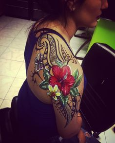 33 Best Hibiscus Shoulder Tattoos For Women Images In 2017 Tatoos