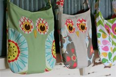 owl purse patterns. I am going to have to make these for Soph, so stinking cute!