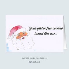 'cheeky santa' greeting card