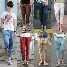 New 2014 Mens Pants Baggy Pants Pantyhose Style Linen Men'S Casual Pants Tapered Pants Feet From Bigbuy, $22.26 | Dhgate.Com
