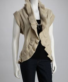 Take a look at this Avalin Coco Ruffle Ribbed Vest by Cyrus on today! Cute Fashion, Fashion Ideas, Tunic Sweater, Unique Outfits, Knitted Fabric, Cap Sleeves, Ideias Fashion, Vest, Feminine
