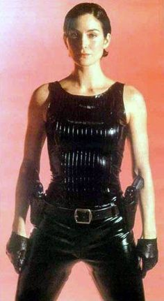 Black Latex Catsuit worn By Carrie-Anne Moss. Buy your Catsuit for dance from DCUK Dance Clothes.