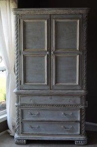Hazy gray armoire