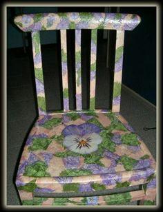 Vecchia sedia trasformata