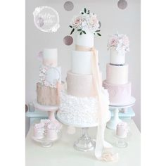 Wedding cakes by Wish Upon a Cupcake