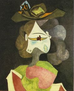 """art-centric: """" A hat with flowers Pablo Picasso, 1940 """""""