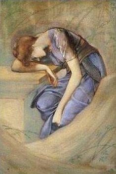The Garden Court (study) - Edward Burne-Jones. Simbolismo