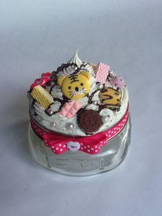 Kawaii Decoden Jar Cupcake Miniature Sweets by Sillysockmonkeys, $10.50