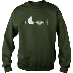 Maine Coon Heartbeat  Crew Sweatshirts T-Shirts, Hoodies ==►► Click Order This Shirt NOW!