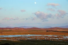 Moon over the Gruinart flats, Isle of Islay
