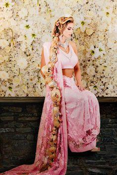 9 novias se vistieron como princesas de Disney al estilo hindú