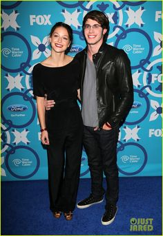 Melissa Benoist & Blake Jenner: Fox Fall Eco-Casino Party: Photo Melissa Benoist is classy chic at the Fox Fall Eco-Casino Party held at The Bungalow on Monday night (September in Santa Monica, Calif. Celebrity Couples, Celebrity Gossip, Melissa Benoist Blake Jenner, Glee Fashion, Glee Cast, Sylvanian Families, Old Actress, Casino Party