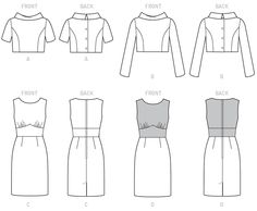 Butterick - B6243 jasje en jurk | Naaipatronen.nl | zelfmaakmode patroon online