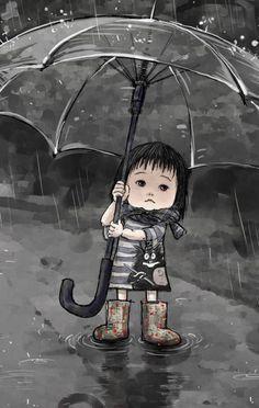 Un día lluvia