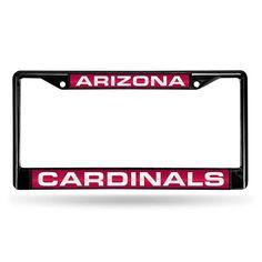 Arizona Cardinals NFL Laser Cut Black License Plate Frame