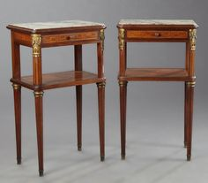 Pair of French Louis XVI Style Ormolu Mounted Inlaid : Lot 76