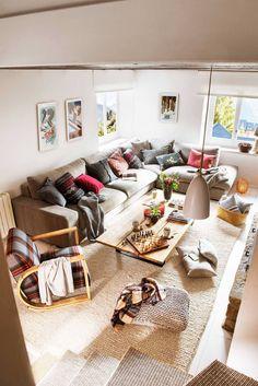 Decoración de salones de otoño: 40 ideas para copiar Decor, Furniture, Home Living Room, Decor Styles, Cottage Decor, Home Decor, Kotatsu Table, Home And Living, House Colors
