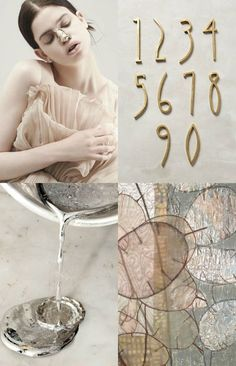 Weekend Inspiration Moodboard: Metals+Blush - Eclectic Trends