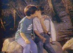 Winnie & Kevin's first kiss.