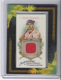 Jason Varitek 2008 Allen + Ginter Relics Jersey - Boston Red Sox - Free Shipping