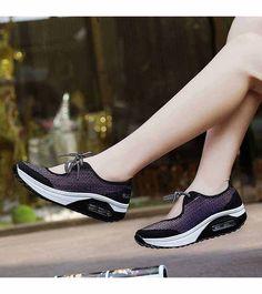 80f28314a112c Women s  purple lace up  rocker bottom sole shoe sneakers stripe pattern