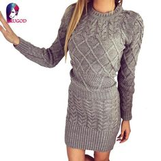 Sweater Dress Stretch Brief Casual