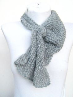 Knit scarf Knitting mini scarf Gift for her gift by ATLASKNITSHOP, $19.00