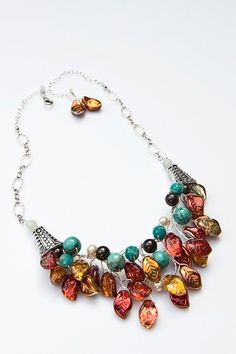 I am IN LOVE. wish I had $109.95 running around in my pocket. Southwestern Bib Necklace Beaded Necklace by CherylParrottJewelry, $109.95