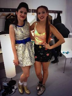 Lodo and cande Violetta Live, Best Frends, Series Movies, Disney Channel, Crafts To Do, Bffs, Famous People, Sequin Skirt, Tv Shows