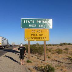 Funny Hitchhiker - I wonder if this chap got a lift...