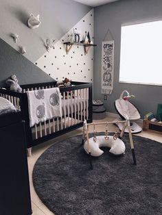 Grey scandinavian inspired nursery