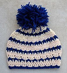 "Free pattern for ""Crochet Beanie Hat""...love the colors & stitch! #CrochetBeanie"