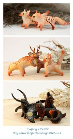Animal miniatures by Evgeny Hontor. - Clay ideas Animal miniatures by Evgeny Hontor. Animal figurines clay animals polymer clay Animal miniatures by Evgeny Ho Polymer Clay Kunst, Polymer Clay Figures, Polymer Clay Animals, Polymer Clay Creations, Polymer Clay Crafts, Sculptures Céramiques, Sculpture Clay, Polymer Clay Sculptures, Fimo Kawaii