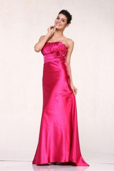 Classic Long Formal Bridesmaids Cheap Prom Dress - The Dress Outlet - 1