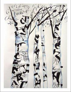 Art of calligraphy by Marina Marjina, via Flickr #tree #art