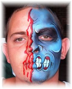 Face Painting - Two Face Monster.jpg (480×592)