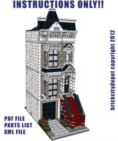 lego custom modular building japanese restaurant board shop