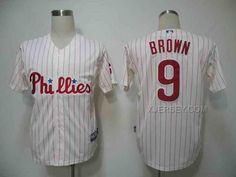 http://www.xjersey.com/phillies-9-brown-white-strip-jerseys.html PHILLIES 9 BROWN WHITE STRIP JERSEYS Only $34.00 , Free Shipping!