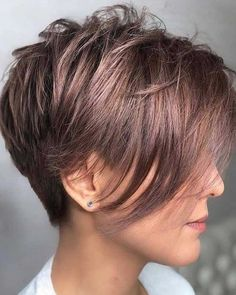 Long Pixie Haircuts for a Great look in 2021 Pixie Haircut For Thick Hair, Longer Pixie Haircut, Long Pixie Hairstyles, Short Hairstyles For Women, Pixie Bangs, Wispy Bangs, Short Haircuts, Pixie Cut With Long Bangs, Fine Hair Pixie Cut