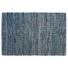 Playroom rug - Kids' Rugs: Kids Blue Woven Cotton Denim Rag Rug in Solid Rugs | The Land of Nod