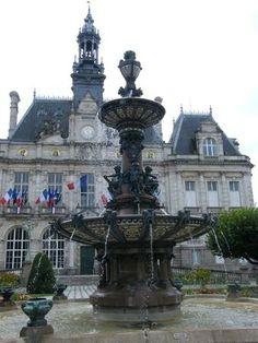 Fontaine de l'Hôtel de ville. Limoges. Languedoc