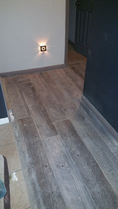 new floors made by natural timber ash purchased from LOWEs home improvement