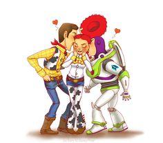 Chuu by Lei-sam.deviantart.com #fanart Toy Story - Woody, Jessie and Buzz