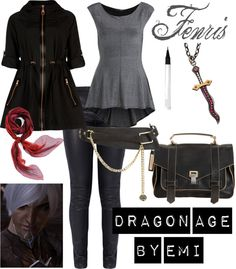 """""""Dragon Age - Fenris"""" by emi-watson on Polyvore  Girly fenris, and he would be so mad seeing this XD"""