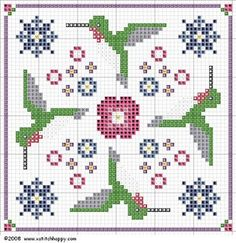 Cross Stitch Happy: Hummingbird Biscornu & Needle Case