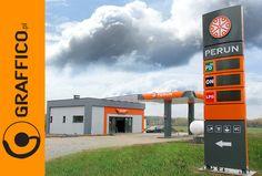 Filling Station, Signage, Branding, Construction, Oil, Paris, Design, Parking Lot, Building