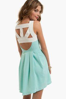 Miss Monroe Dress in Mint; cool back