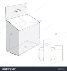 Slanted Box With Hang Tag And Die Cut Template Stock Vector Illustration 246210025 : Shutterstock