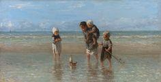 Children of the see (1872) ♥ Joseph Israëls Dutch (1824 - 1911) 48.5 cm x 93.5 cm, oil on canvas Rijksmuseum, Amsterdam