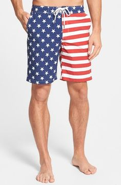 American Patriotism Day 4th July Independence Happy Teen Swim Trunks Bathing Suit Shorts Board Beach